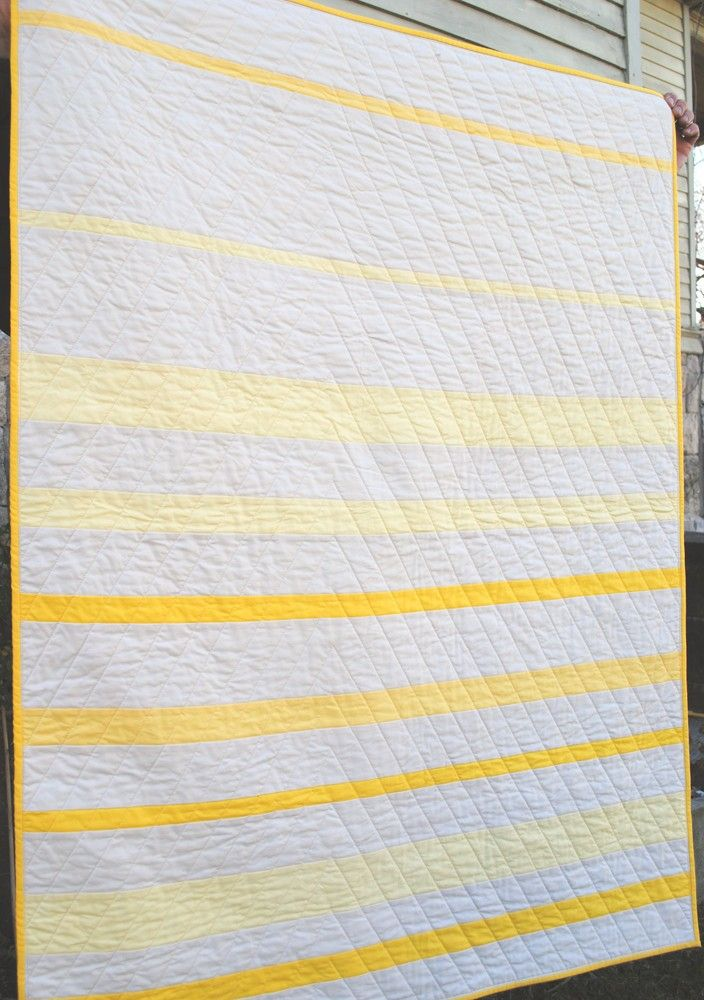 Yellow & white quilt back. Nice!