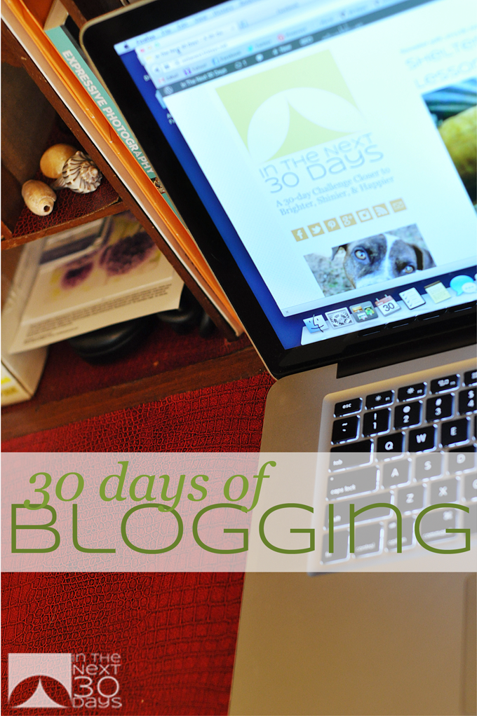 Today is the first day of my 30 Days of Blogging Challenge | In The Next 30 Days