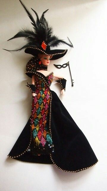 Vintage Barbie Doll Bob Mackie Masquerade Ball Bar