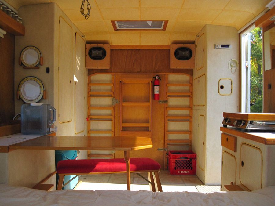 Love The Way This Looks And Great Use Of Space Converted Van Spacious
