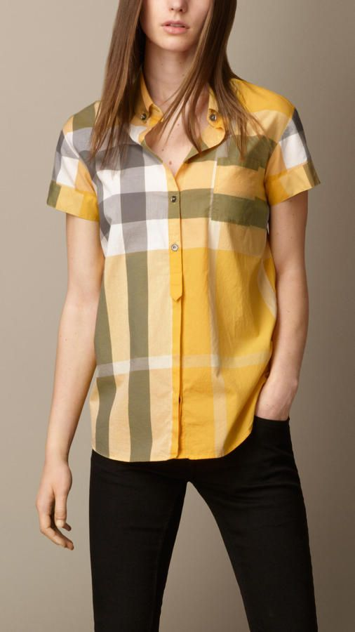 f99736fa3 Burberry Short Sleeve Check Shirt on shopstyle.com