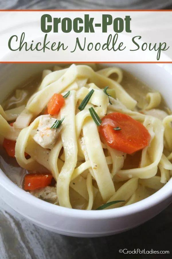 crock-pot chicken noodle soup   recipe   food recipes