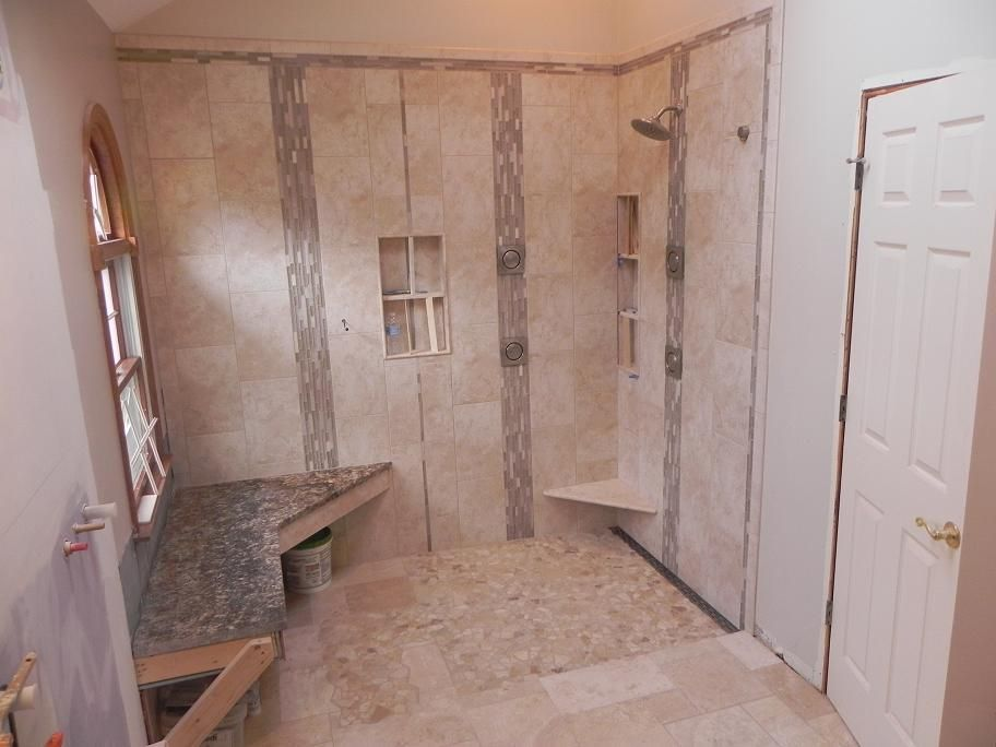 Curbless shower linear drain layout tiling curbless showerg i curbless shower linear drain layout tiling curbless showerg i ppazfo