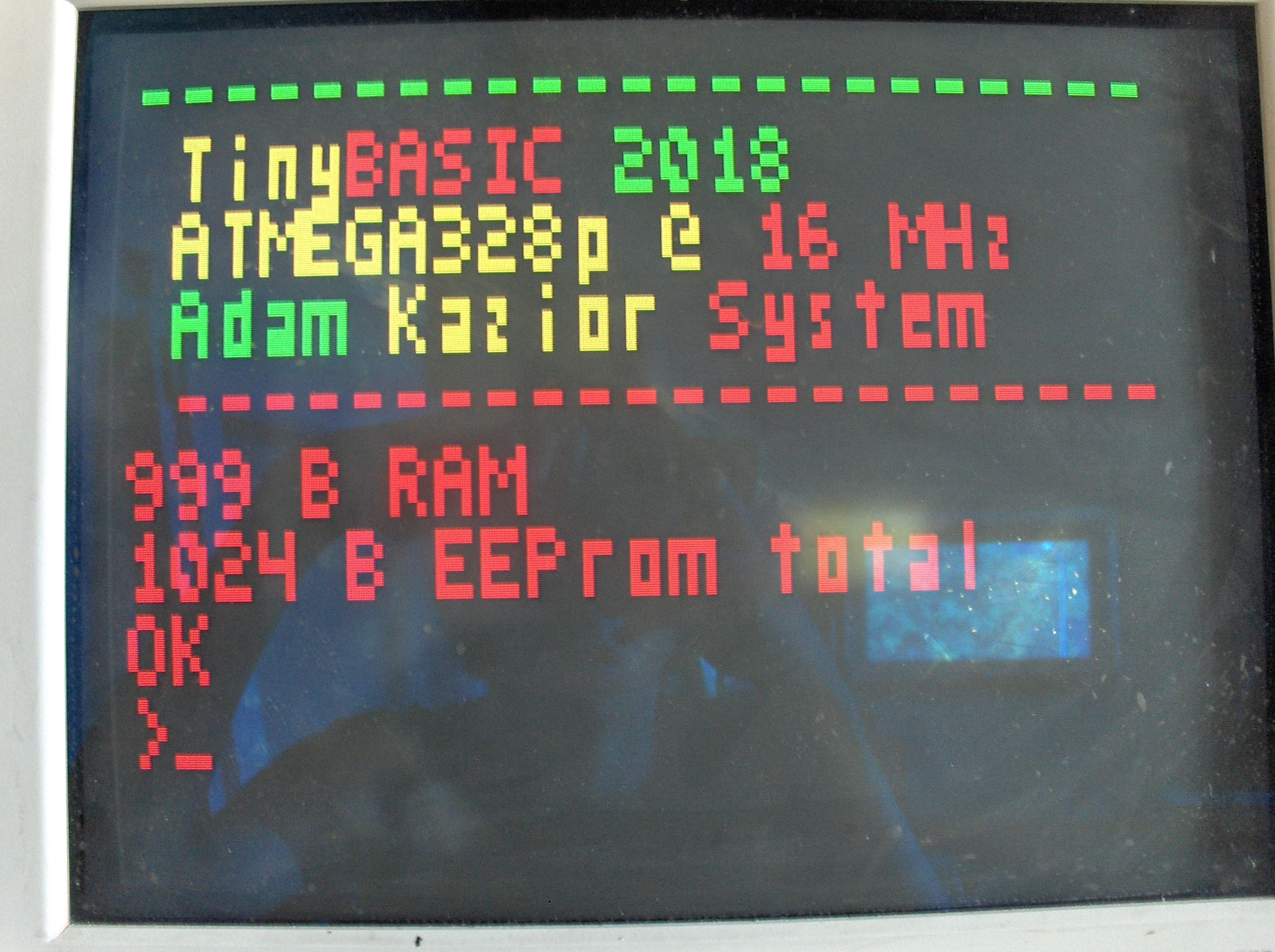 Graphic card test : VGA 120x60 Atmega328 @ 16MHz In the