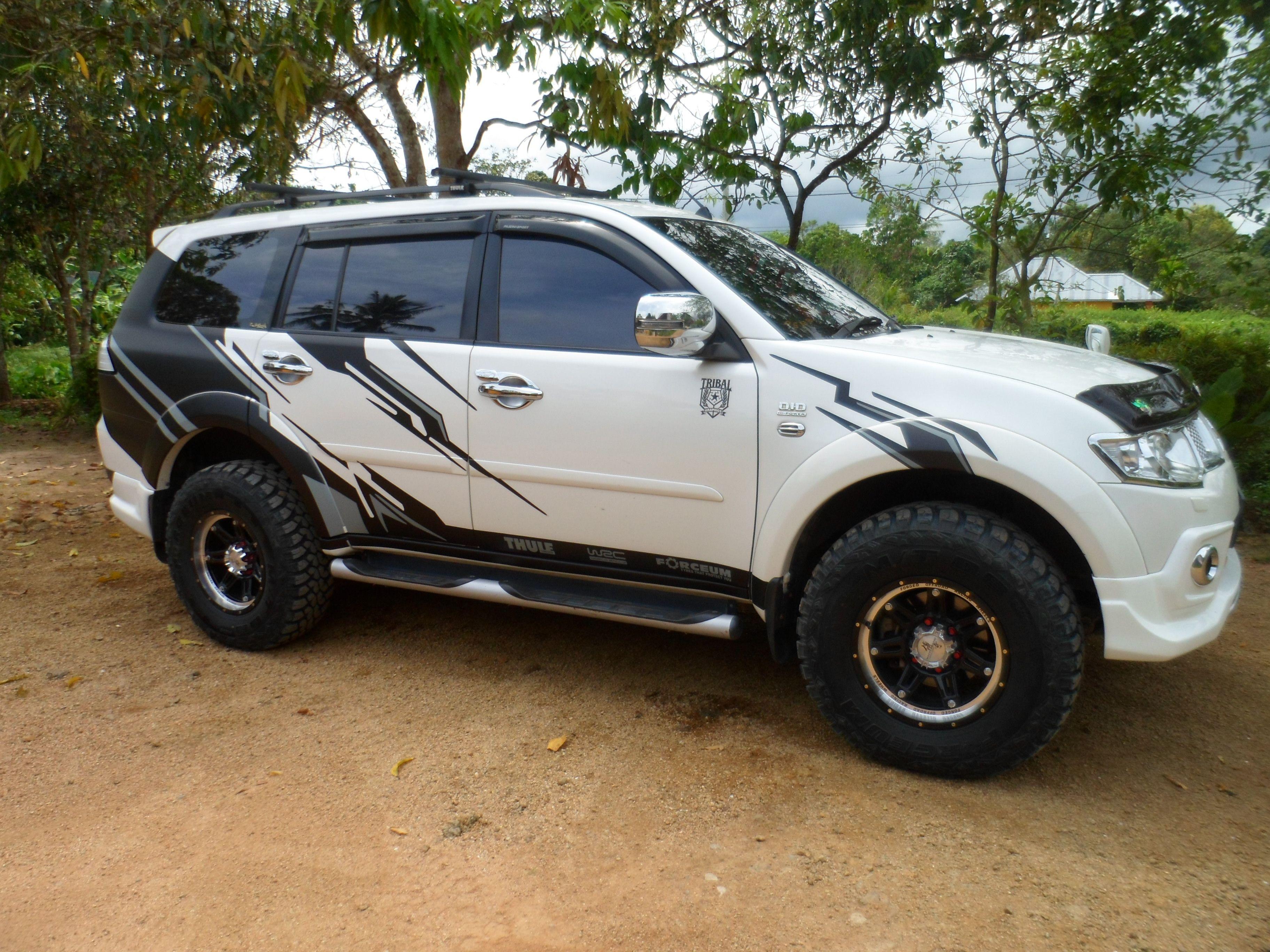 Sticker Mobil Sorong Mitsubishi Pajero Sport Modifikasi Mobil