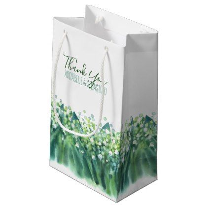 Lily Of The Valley Floral Spring Wedding Small Gift Bag Small gift