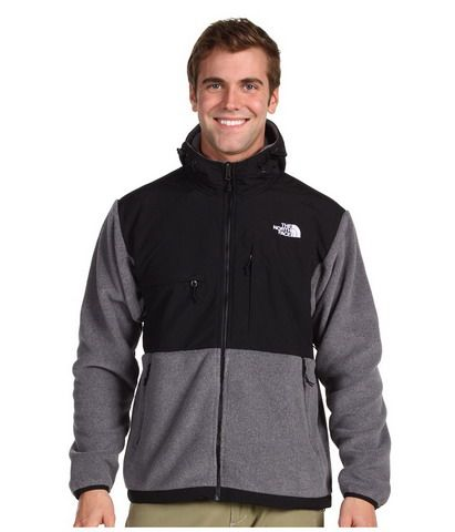 70c9b8b2141d Mens The North Face Fleece Denali Hoodie Black Grey