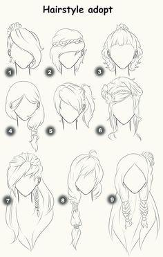 Dibujos De Peinados De Mujer Buscar Con Google Peinados Para