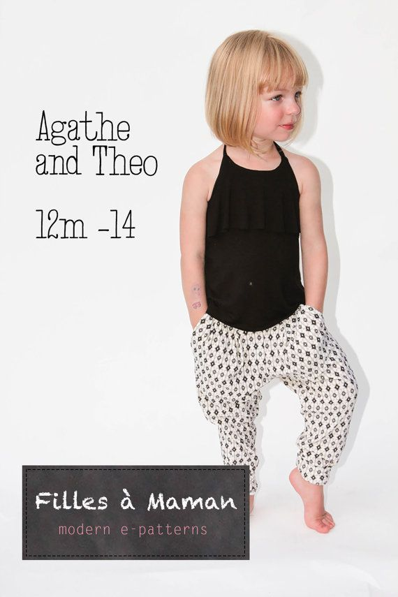 These pants are so cute and I bet incredibly comfortable. | Patterns ...
