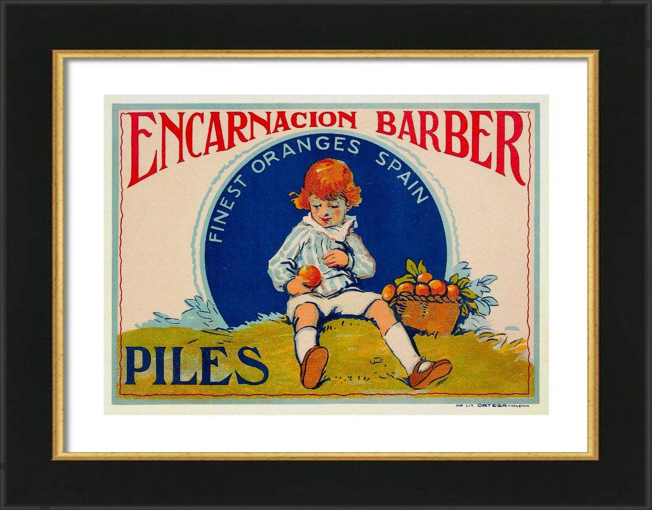 Spanish Oranges - Vintage Advertising Poster | Zazzle.com ...