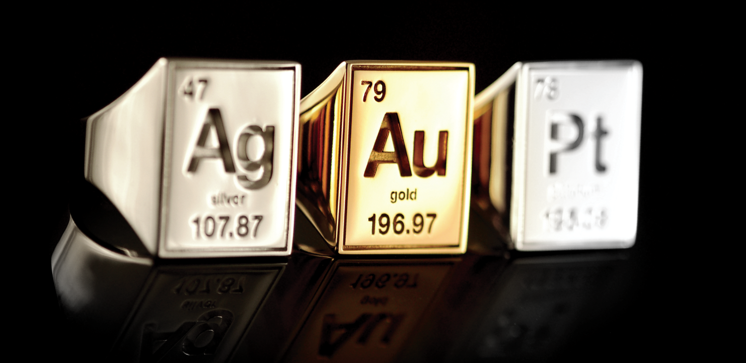 Periodic table of elements gear worth their weight in au silver for those that prefer metal to carbon atoms looking at you diamonds the periodic jewelry by itsnoname is your heavyweight precious metals come at a urtaz Gallery