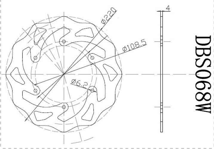 Rear Brake Disc Rotors KTM LC4 ADVENTURE 620/640, LC4 EGS