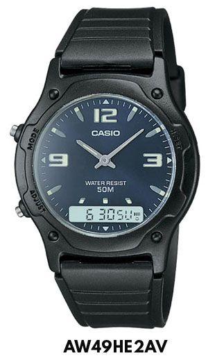 a6451fced20 Reloj Casio Analogico Digital Cronometro Aw49 Hora Doble -   649