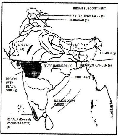 ICSE Geography Question Paper 2012 Solved for Class 10