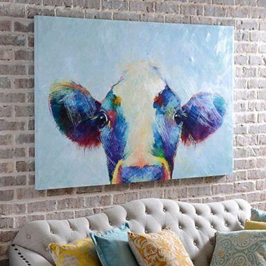 Betsy Cow Canvas Art Print 50x50 Kirklands House Ideas