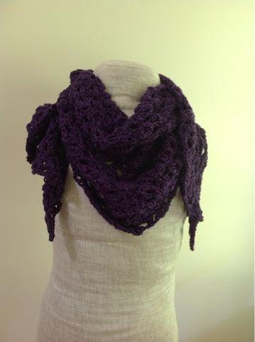 Undeniable Glitter: Plum Shawl | My All Free Crochet Projects ...