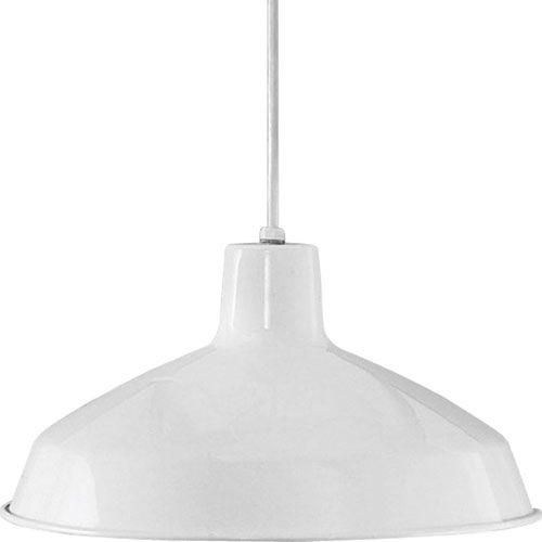 P5094-30:  White One-Light Pendant