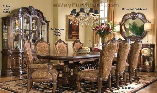 Estelle Dining Room Set Formal Cherry Brown Furniture Brown