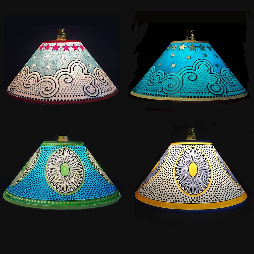 Cressida Bell Lamp Shades Love These For A Kid S Room Painting Lamps Diy Lamp Shade Paint Shades