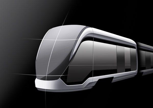 European tram schoenemann design transportation for Minimalist design concept