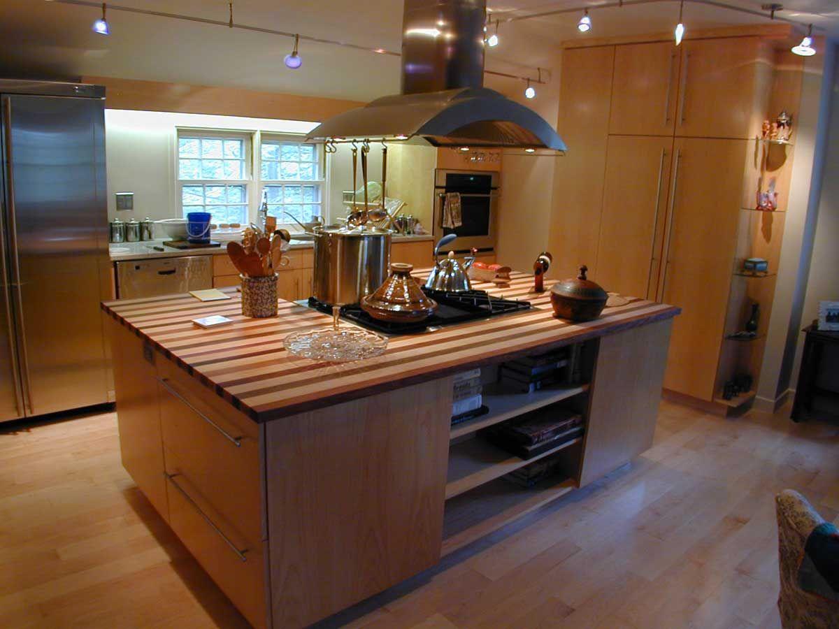 Kitchen island designs stove top - Kitchen Top Design Ideas Wooden Kitchen Island With Stove Top In Kitchen Island Under Chimney Extractor Fan With Contemporary Kitchen Design Ideas