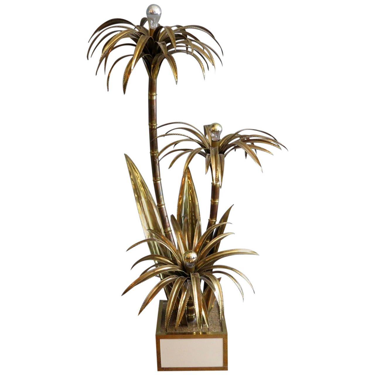 Brass Palm Tree Floor Lamp by Maison Jansen | Tree floor ...