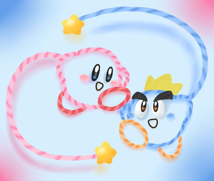 Kirby S Epic Yarn Kiry And Prince Fluff With Images Kirby