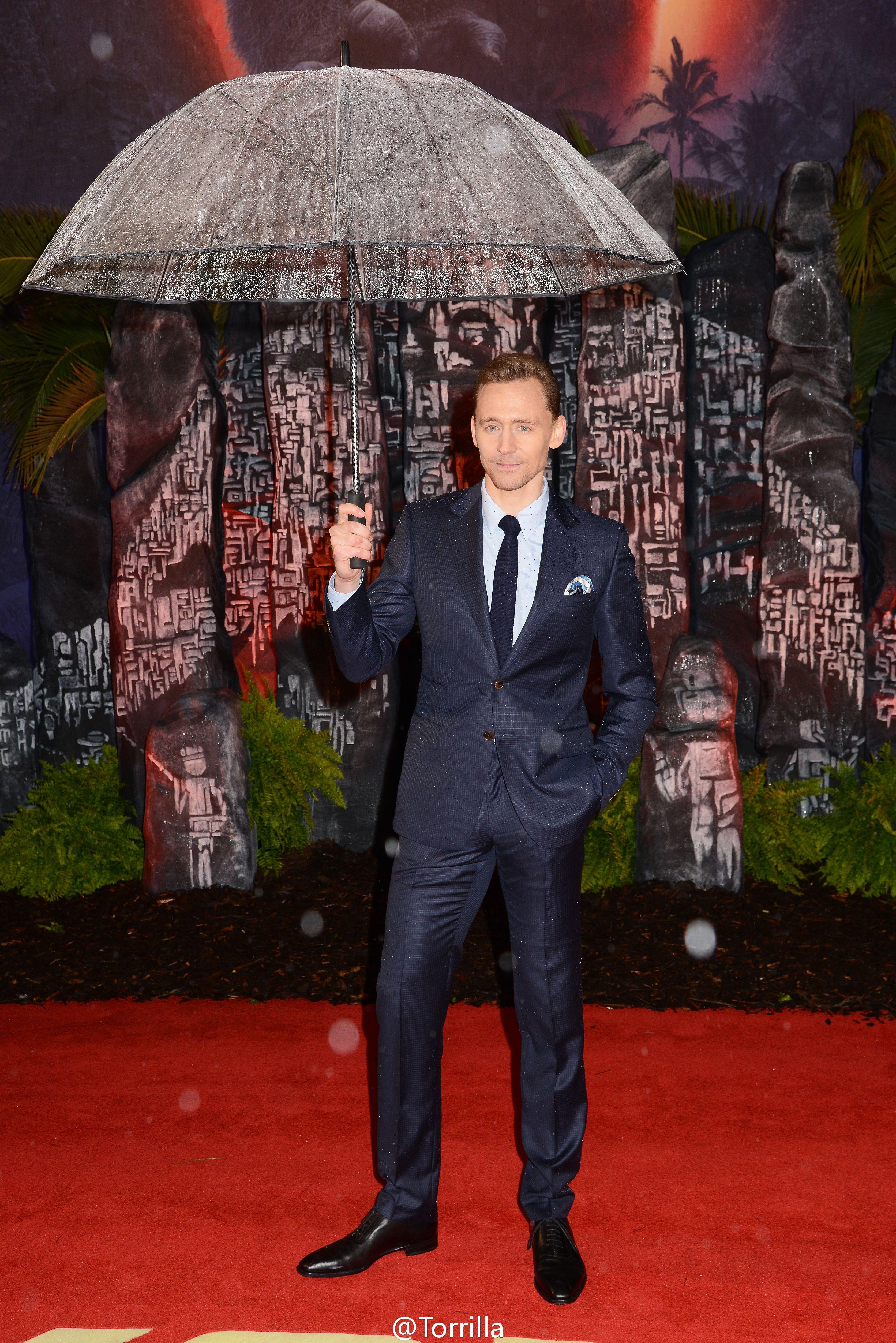 Tom Hiddleston. London premiere for #KongSkullIsland. February 28, 2017