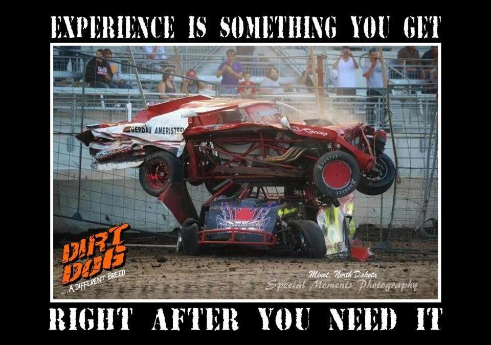 Experience racing dirt track dirt racing