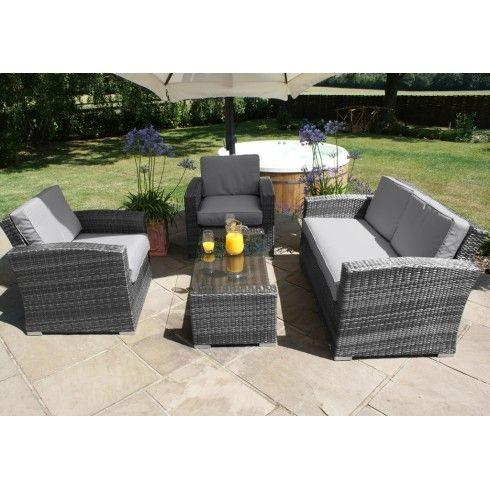 Maze Rattan Garden Furniture Kingston Grey 2 Seater Sofa Set | Sayan ...