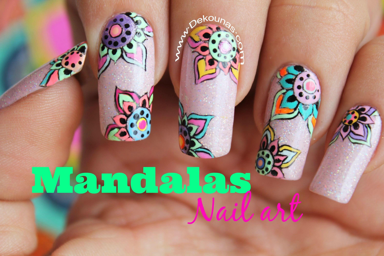 Decoración de uñas mandalas - Mandala nail art | Arte en Uñas ...