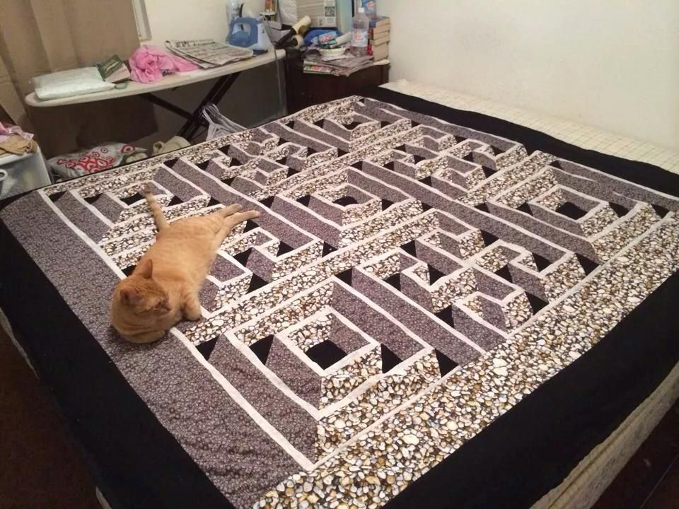 Wood Maze Quilt Blocks   Wooden Thing