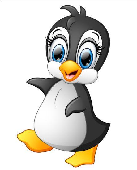 lovely penguin cartoon set vectors 04   Funny Art art ...