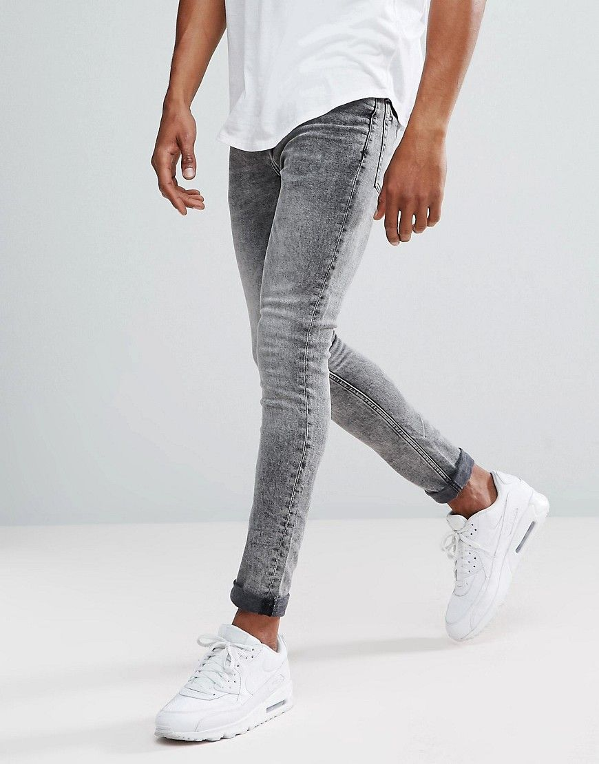 ASOS Super Skinny Jean In Light Wash on Wantering | White