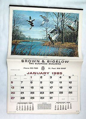 Vintage 1985 2019 David Maass Wildfowl Calendar Yearly Calendar