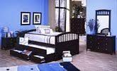 Allegro Woodbridge Merlot Wood Twin Captain Bed w/Trundle Drawers Cheap
