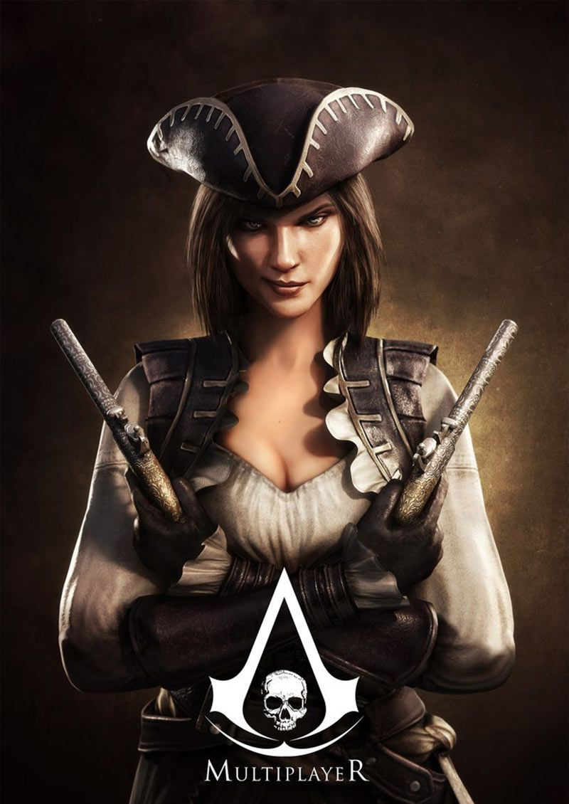 Lady Black Poster Characters Art Assassin S Creed Iv Black Flag Assassins Creed Black Flag Assassins Creed 4 Assassin S Creed Black