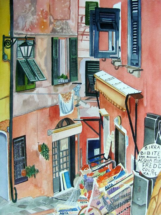 Italian Market - Watercolors and Art by Karen Park