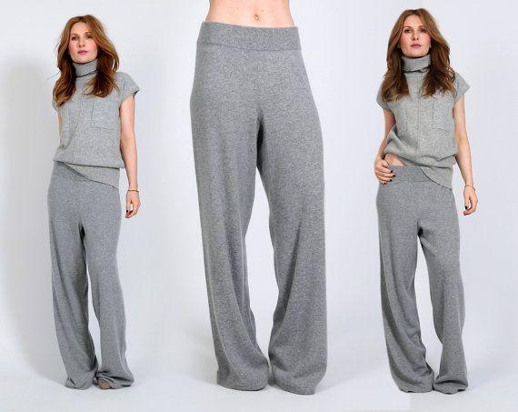 competitive price d40f9 8a58a CASHMERE maglione maglia pantaloni tuta grigio di ...