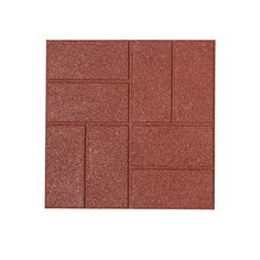 Rubberific Red Rubber Paver Common 16 In X 16 In Actual 16 In