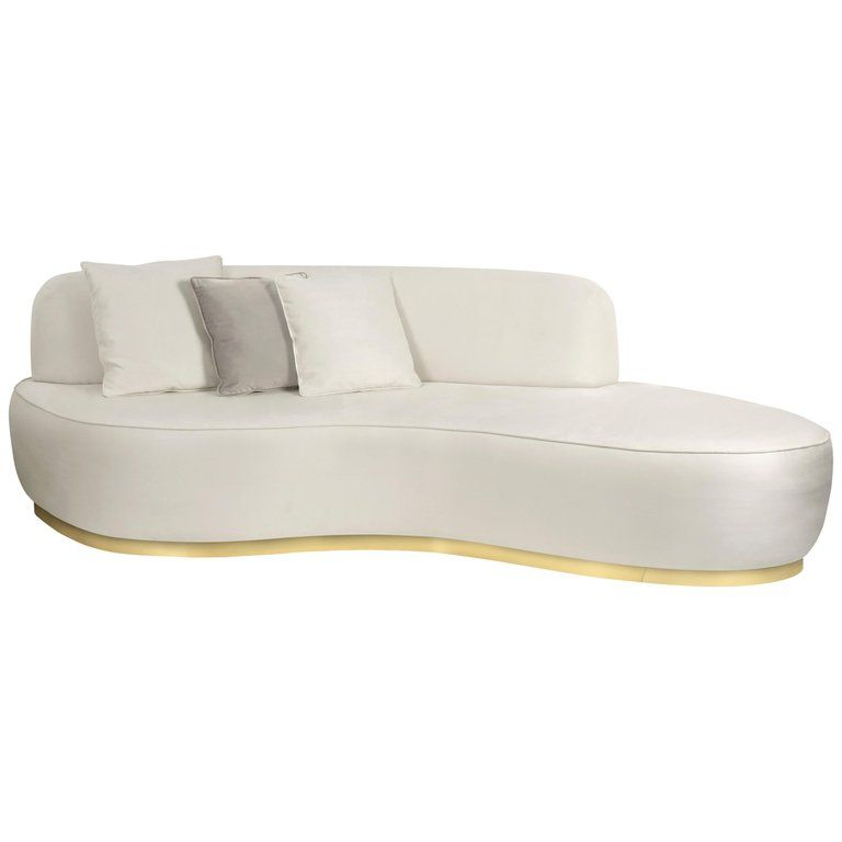Fabulous Curved Odette Sofa In Fabric And With Brass Details Caraccident5 Cool Chair Designs And Ideas Caraccident5Info