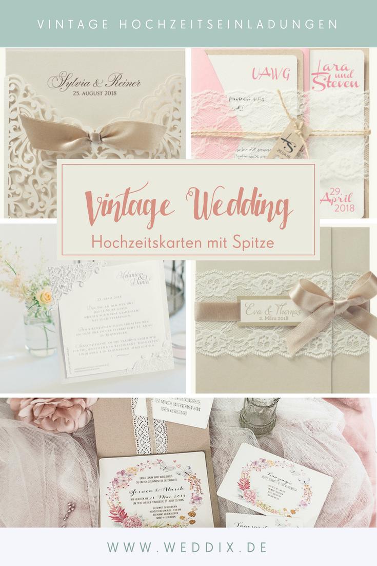 Vintage Spitze Hochzeitskarten Im Vintage Look Hochzeit