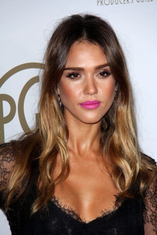 Jessica Alba Sun Kissed Makeup And Ombru00e9 Hair... | Hairstyles And Make-up! | Pinterest | Pink ...
