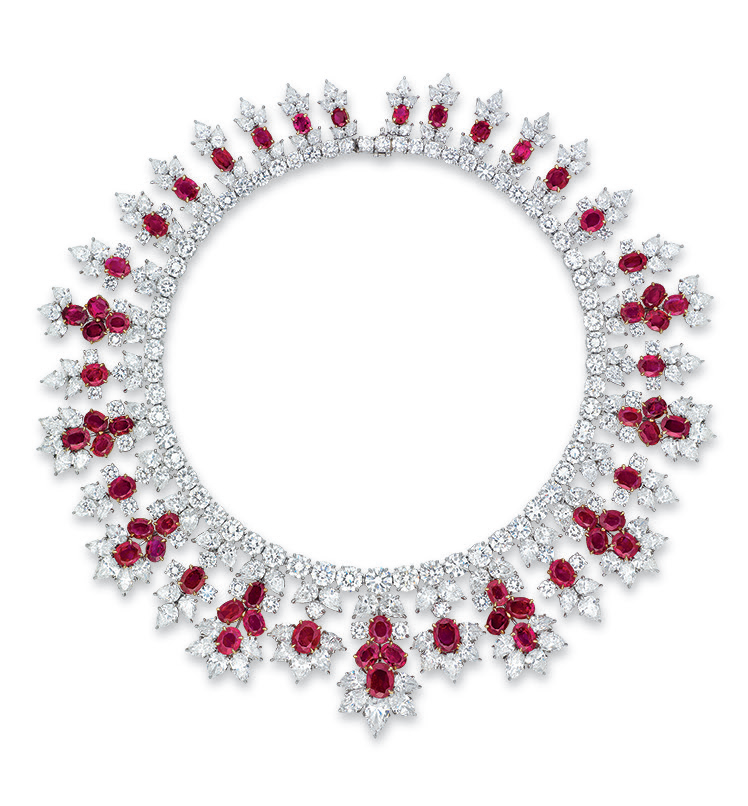 ruby and diamond necklace by harry winston harry