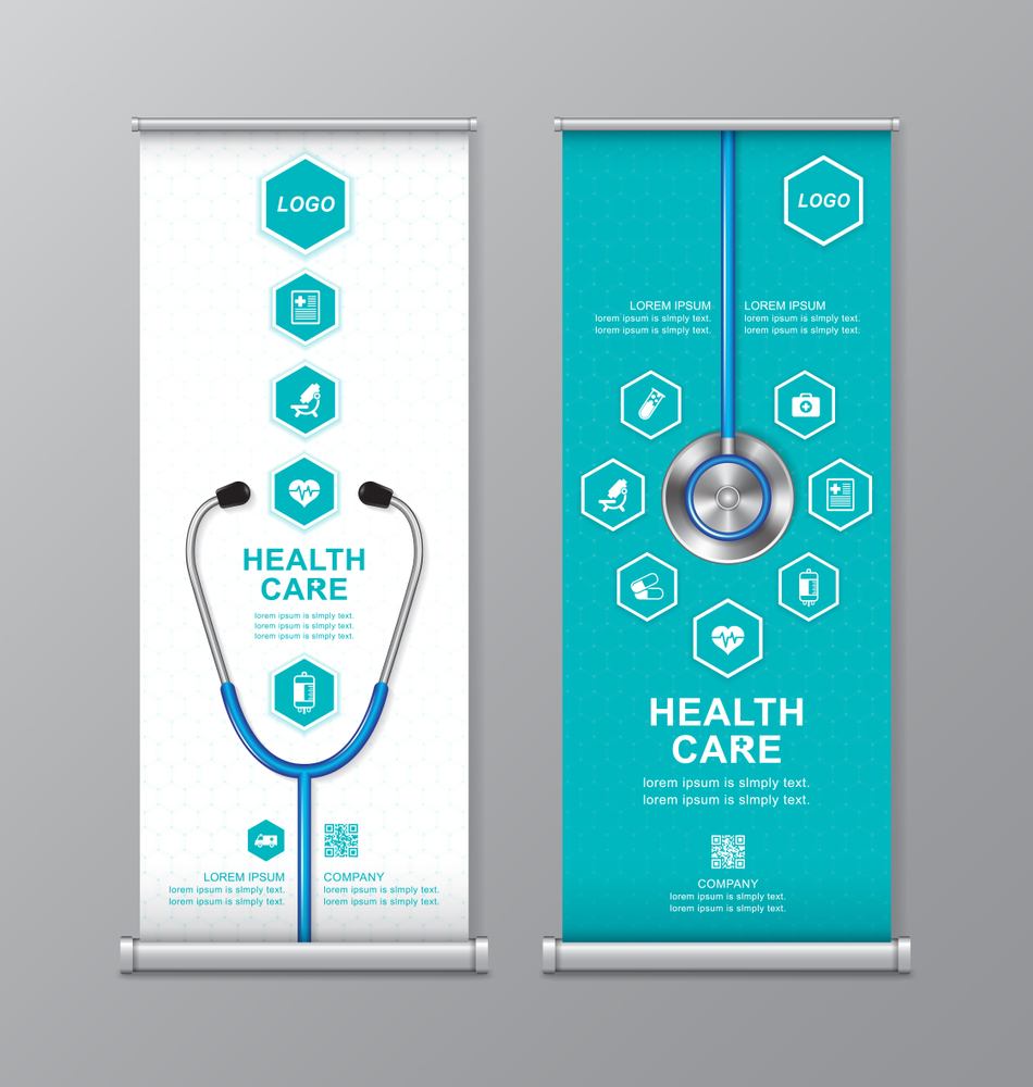 Health Care Medical Roll Design Standee Design Standee Health Roll Care Medical Standee Design Health Care Roll Up Design