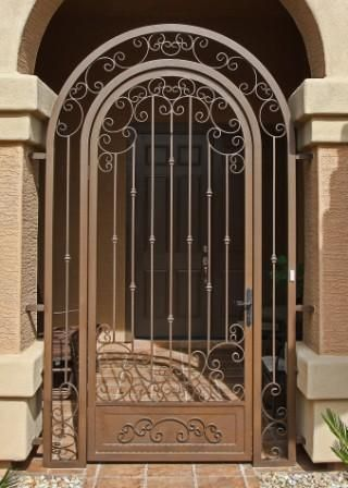 Wrought iron gates phoenix tucson arizona for Door gate design