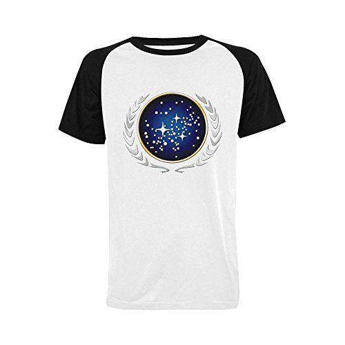 Wihuae Mens Star Trek Logo Short Sleeve Raglan T Shirt