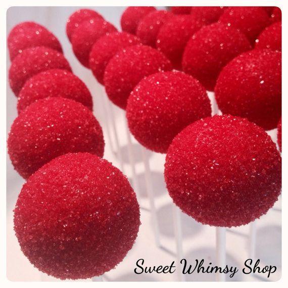 Photo of 12 Sparkly Rudolph Nose Cake Pops für von SweetWhimsyShop auf Etsy    Christmas…