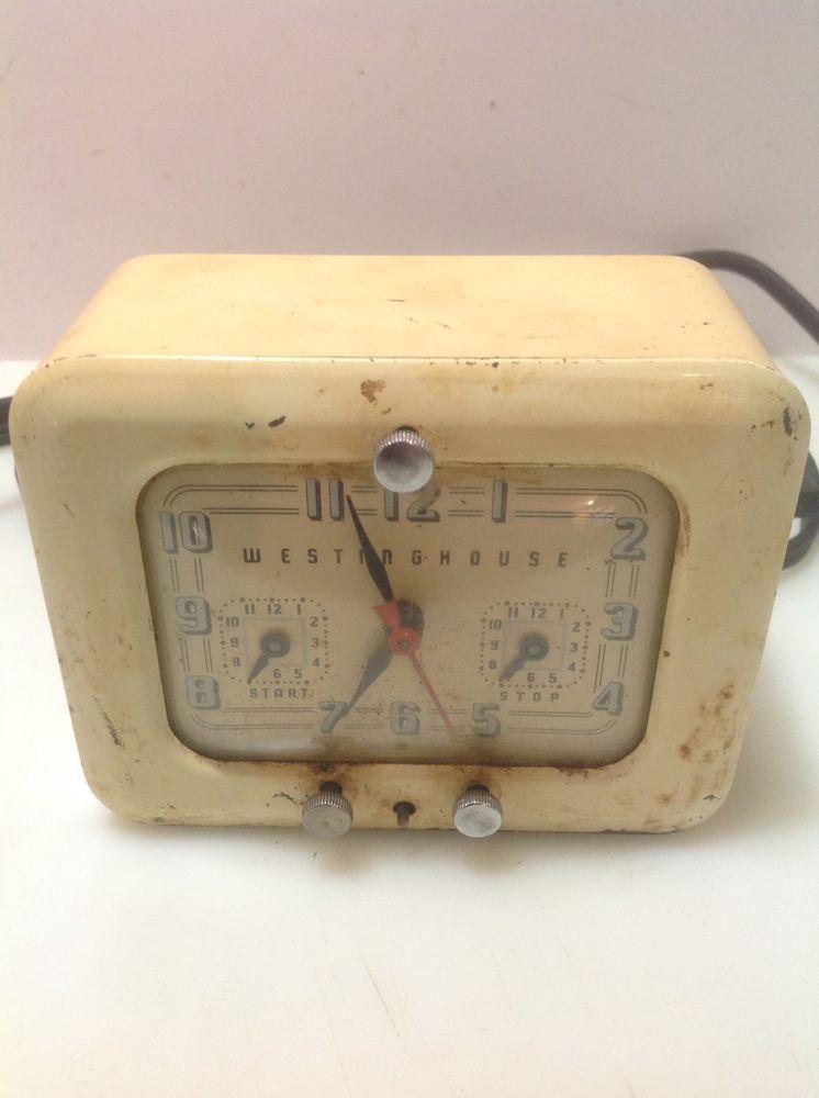 Vintage Westinghouse Tc 81 Electric Timer Clock Kitchen Stove