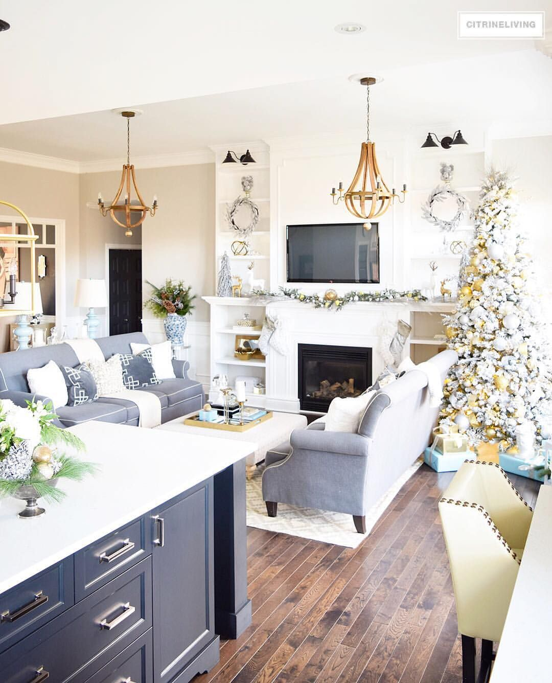 Kitchen Hearth Room Designs: Sharing A Shot From My Recent Christmas Home Tour...we